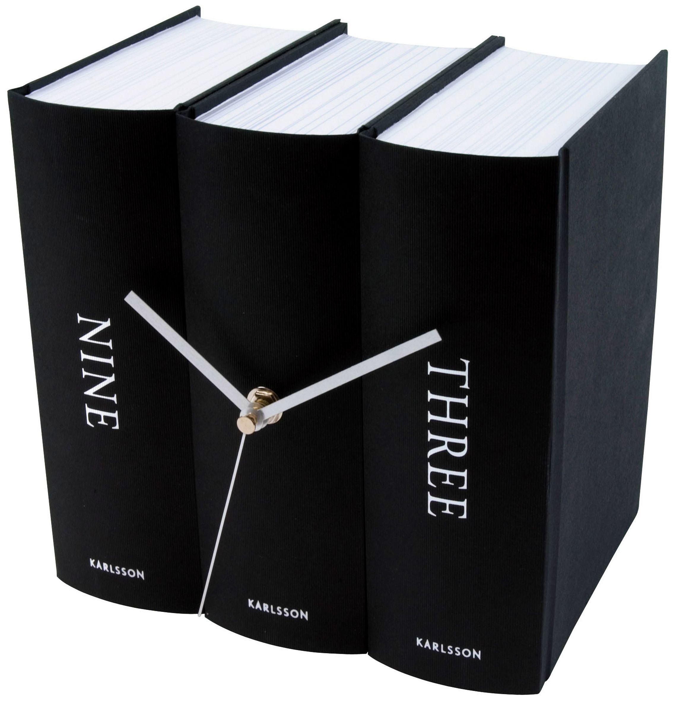 karlsson tischuhr buch ka4283 g nstig auf. Black Bedroom Furniture Sets. Home Design Ideas
