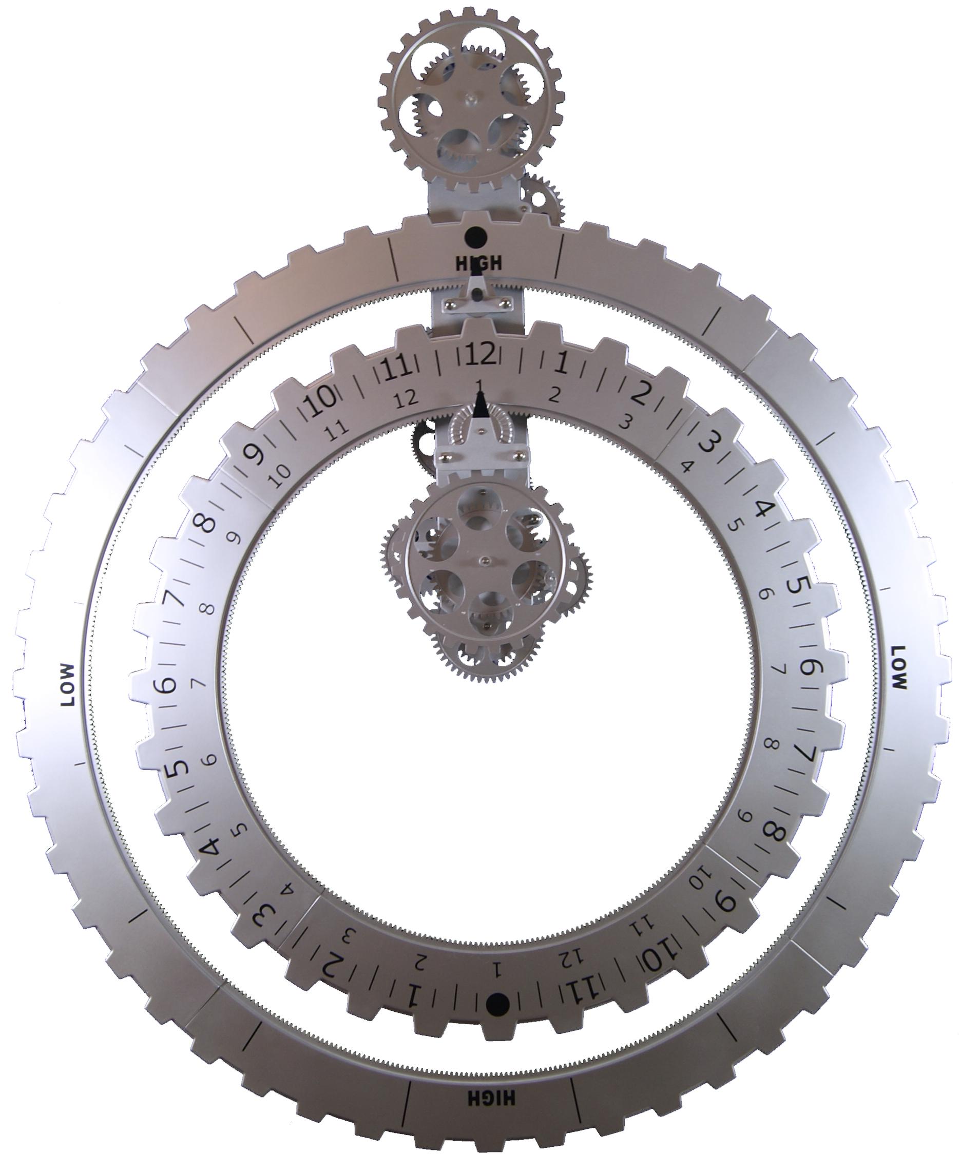 Wanduhr zahnrad truth timepiece zahnradwanduhren - Ausgefallene wanduhren ...