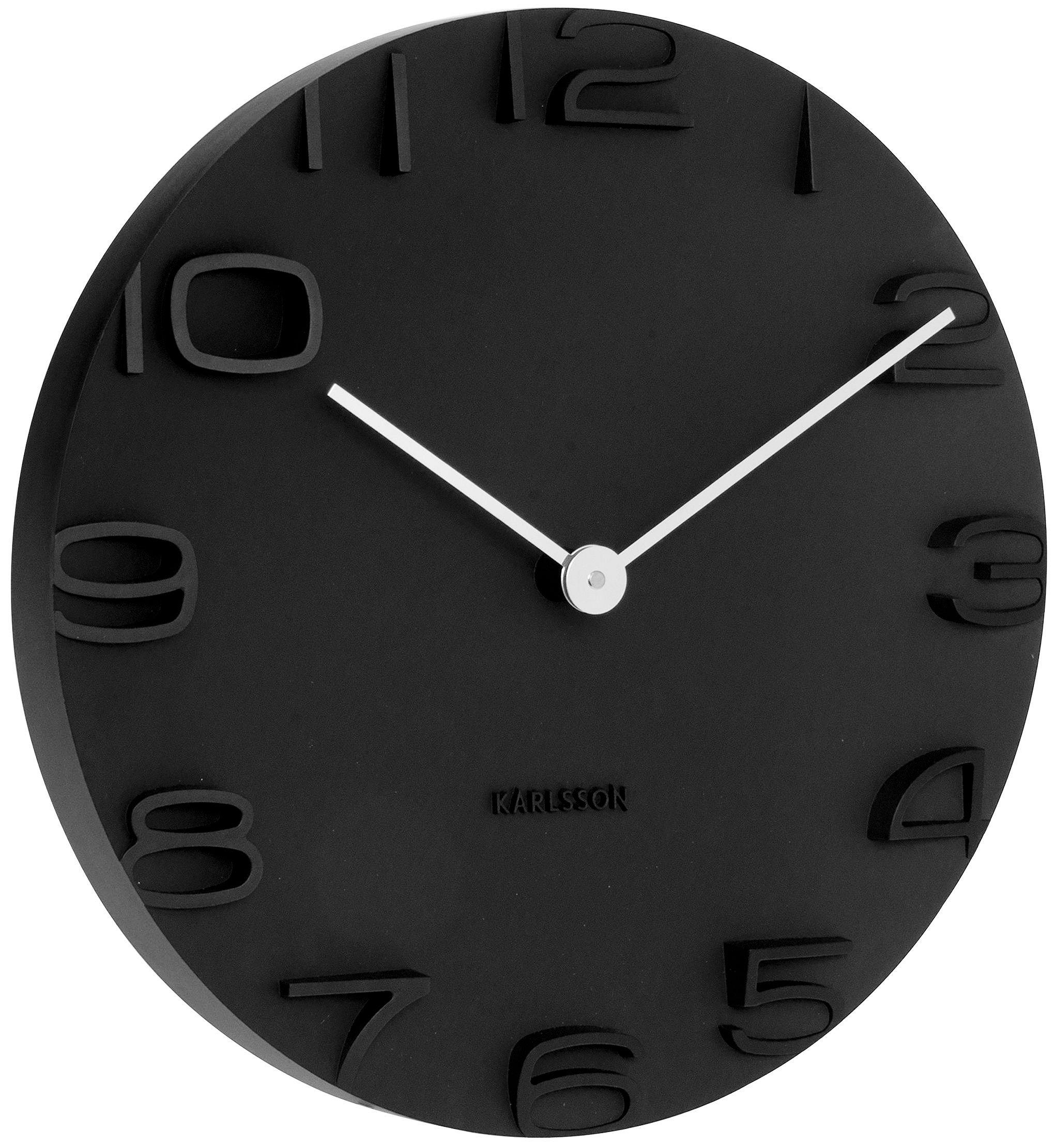Wanduhren Modern Design Wanduhr Edge Clock Big Moderne: Karlsson Wanduhr On The Edge KA5311BK Online Günstig