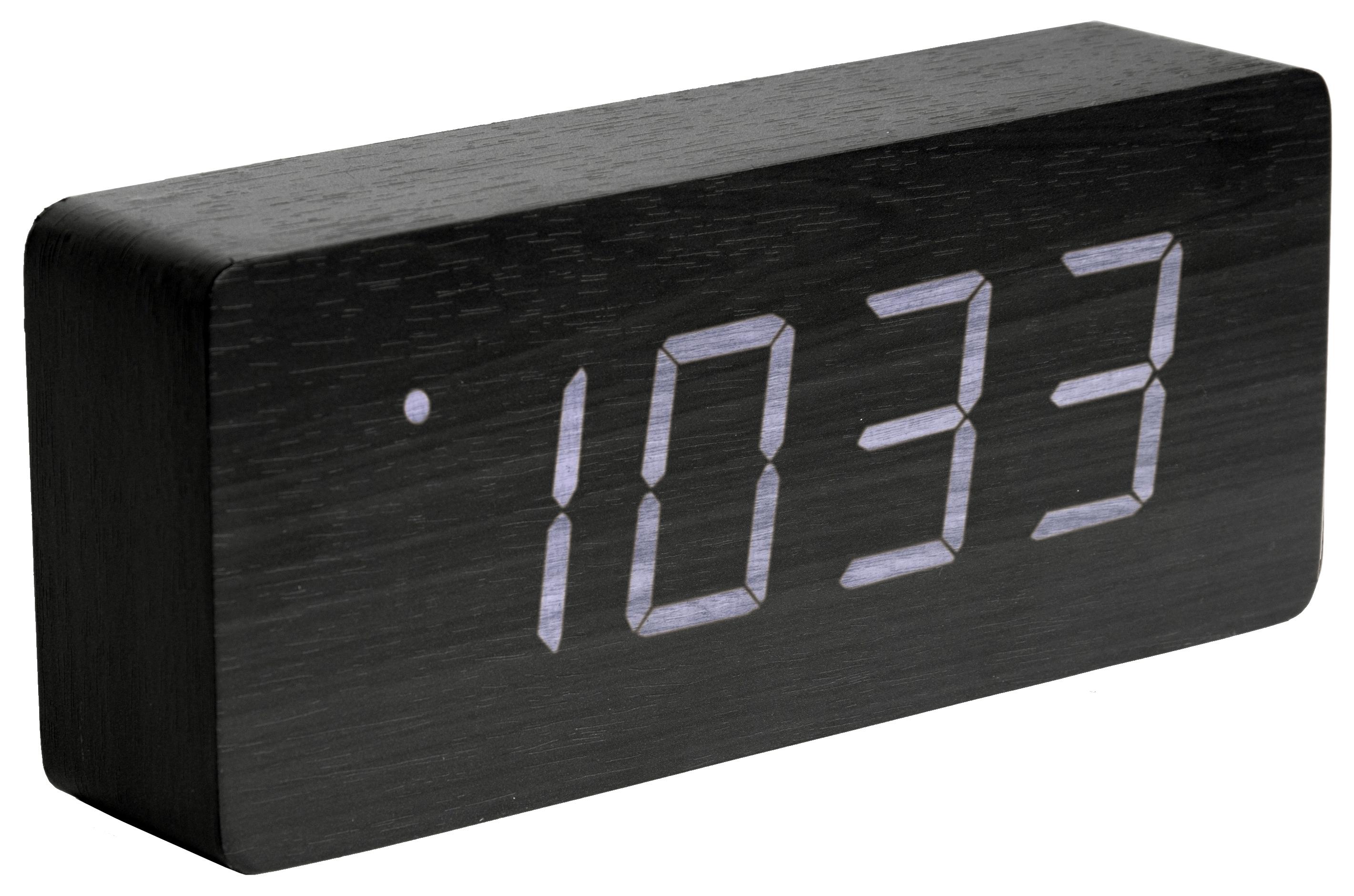 karlsson wecker tischuhr led tube ka5654bk g nstig auf kaufen wanduhren tischuhren. Black Bedroom Furniture Sets. Home Design Ideas