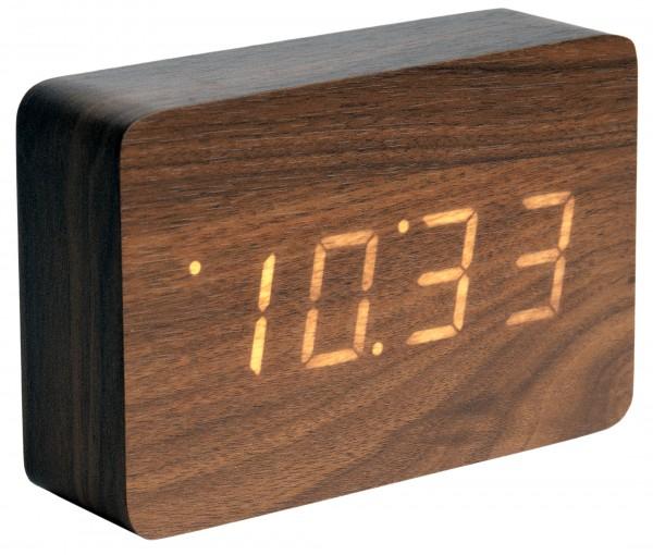 karlsson wecker tischuhr led square ka5653dw g nstig auf kaufen wanduhren. Black Bedroom Furniture Sets. Home Design Ideas