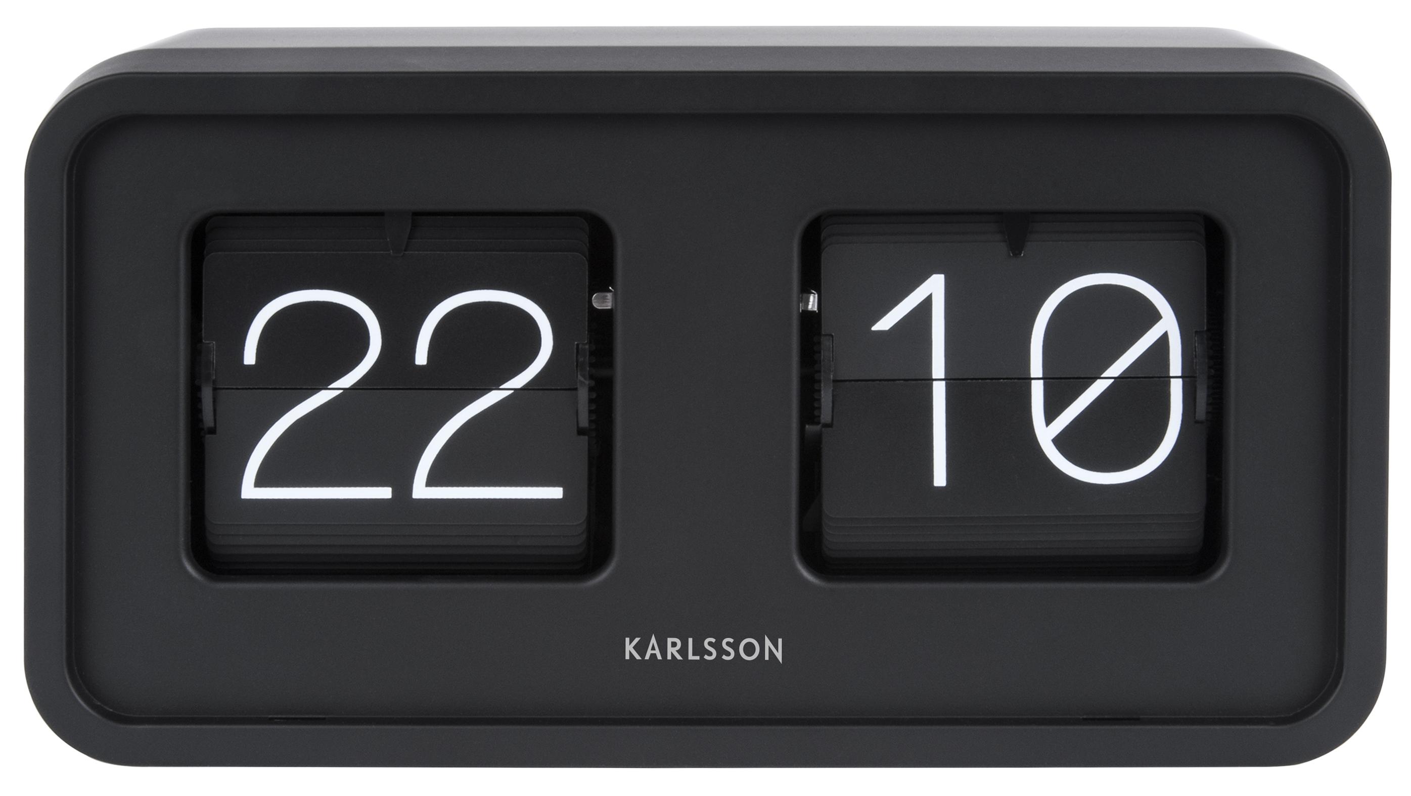 wanduhr tischuhr karlsson bold flip ka5712bk g nstig auf. Black Bedroom Furniture Sets. Home Design Ideas