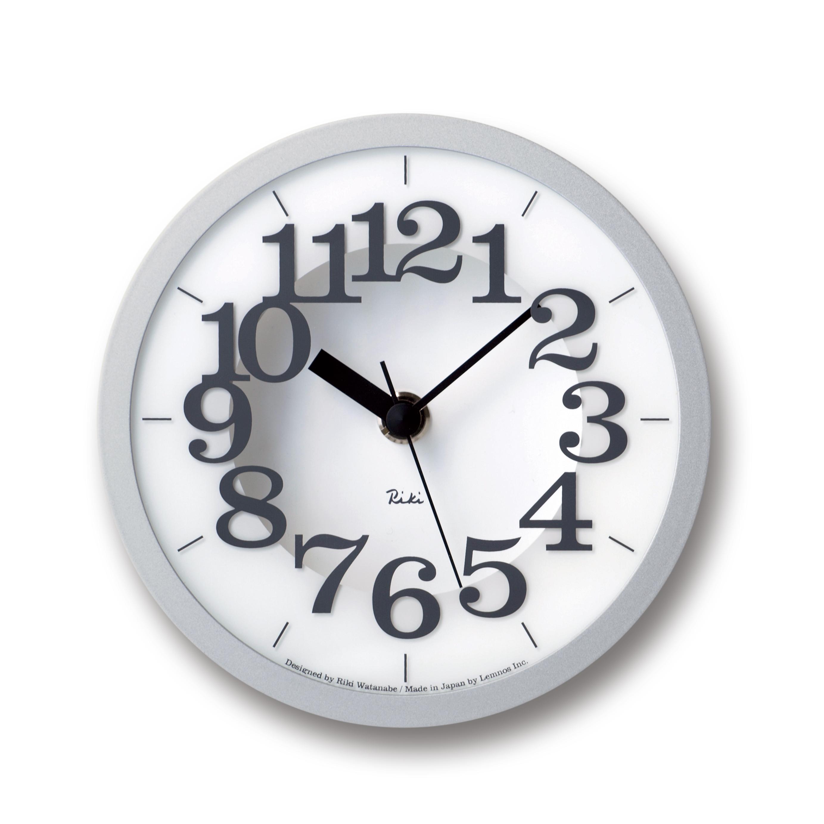 wanduhr riki air clock grau schlafzimmer wanduhren wanduhren wanduhren tischuhren wecker. Black Bedroom Furniture Sets. Home Design Ideas