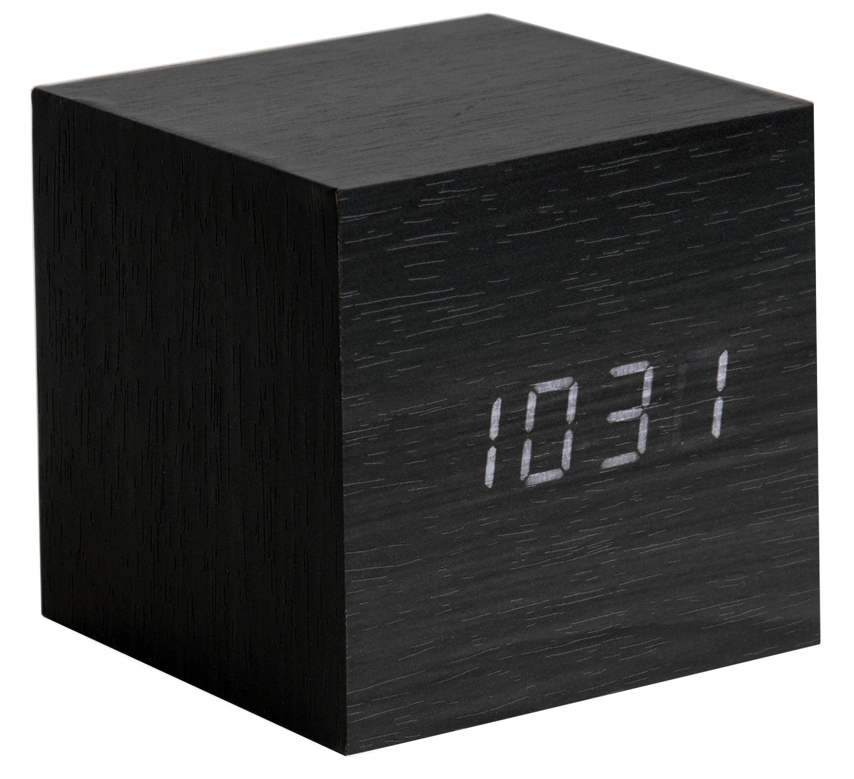 karlsson wecker tischuhr led cube ka5655bk g nstig auf kaufen wanduhren tischuhren. Black Bedroom Furniture Sets. Home Design Ideas