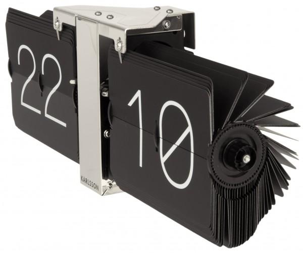 Karlsson Uhr wanduhr karlsson flip no ka5601bk günstig auf laclock de kaufen