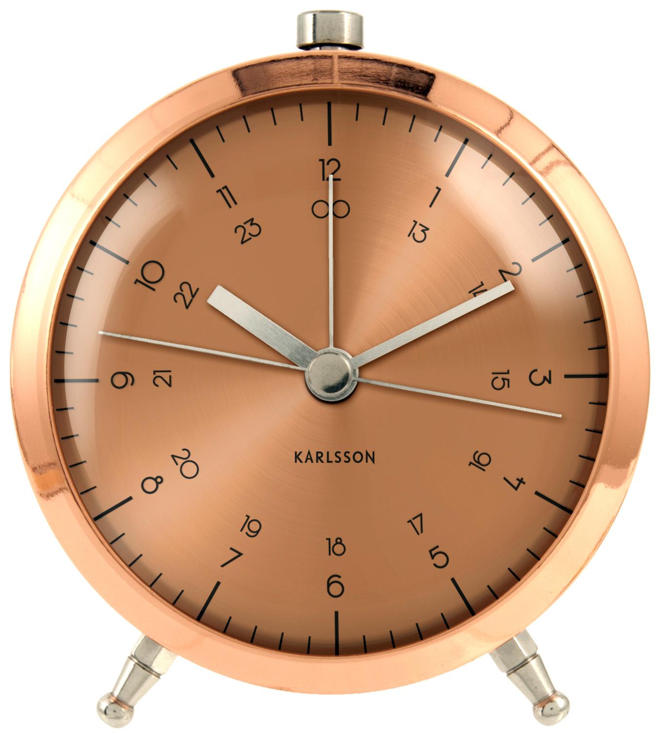 karlsson wecker button kupfer ka5599co jetzt auf www. Black Bedroom Furniture Sets. Home Design Ideas