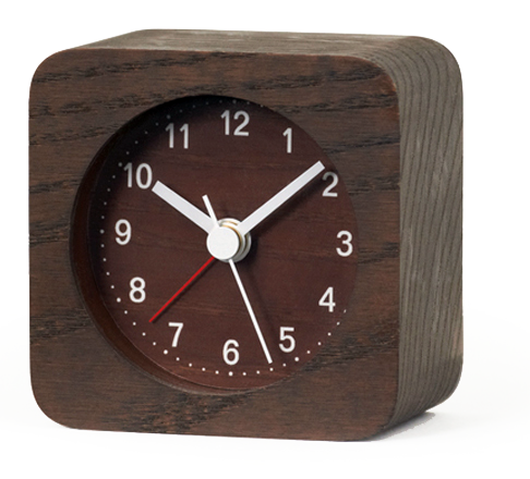 wecker lemnos rest eckig la13 13bw g nstig auf. Black Bedroom Furniture Sets. Home Design Ideas