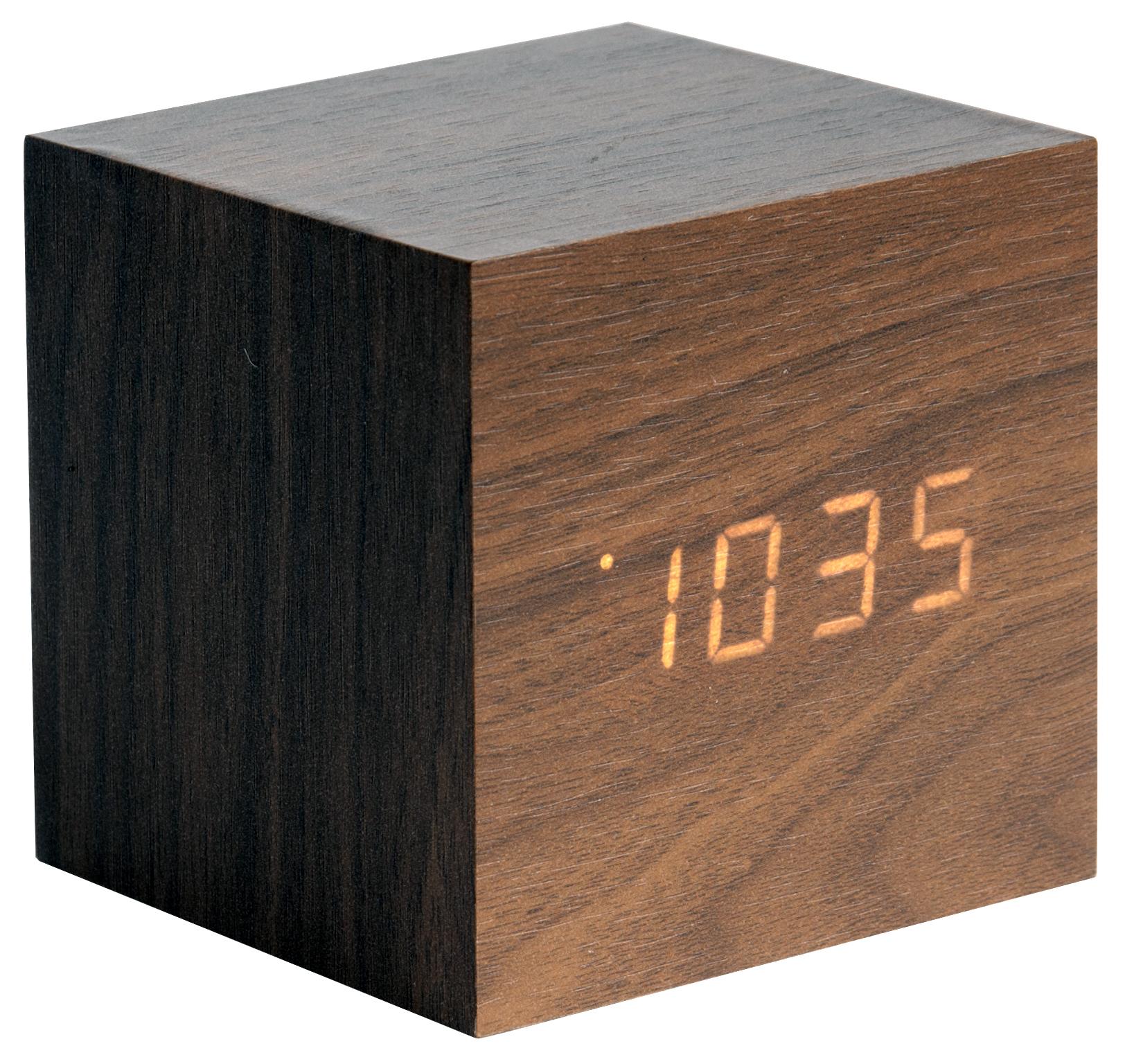 karlsson wecker tischuhr led cube ka5655dw g nstig auf. Black Bedroom Furniture Sets. Home Design Ideas