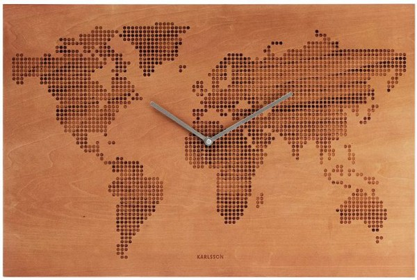 WANDUHR WORLDMAP WOOD