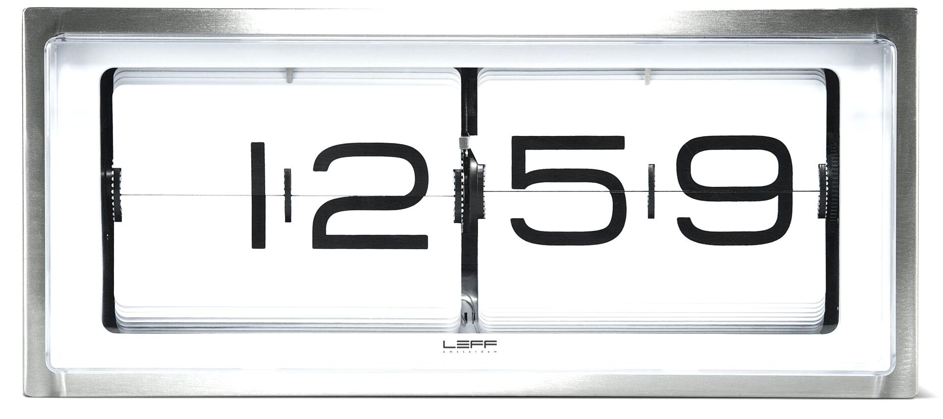 wanduhr tischuhr leff amsterdam brick24 lt15001 g nstig. Black Bedroom Furniture Sets. Home Design Ideas