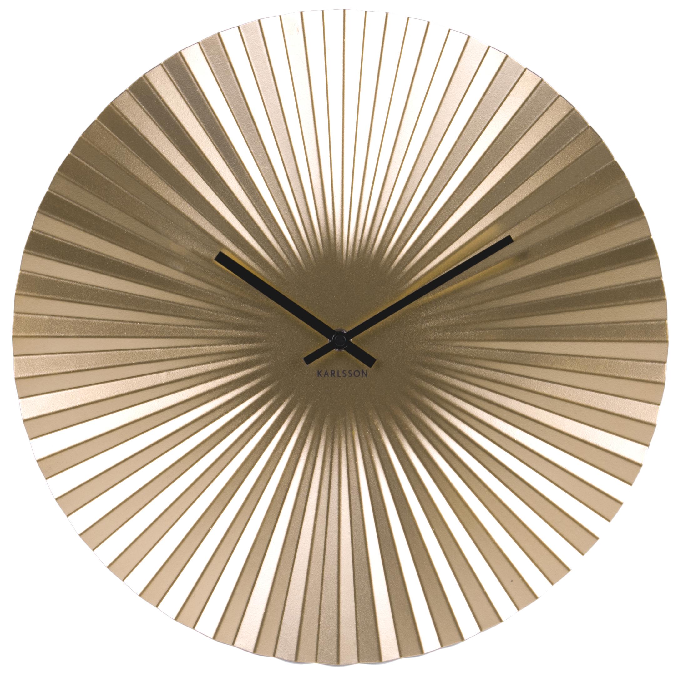 wanduhr karlsson sensu stahl ka5657gd g nstig auf kaufen wanduhren tischuhren. Black Bedroom Furniture Sets. Home Design Ideas