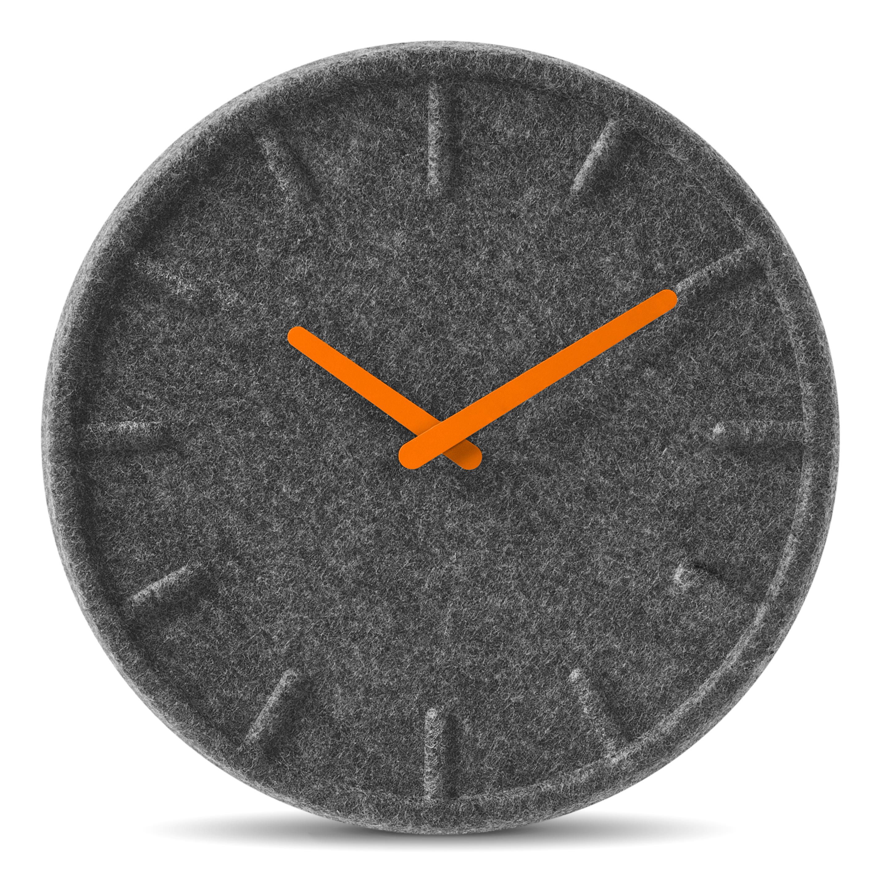 wanduhr felt35 flock orange designer wanduhren wanduhren wanduhren tischuhren wecker. Black Bedroom Furniture Sets. Home Design Ideas
