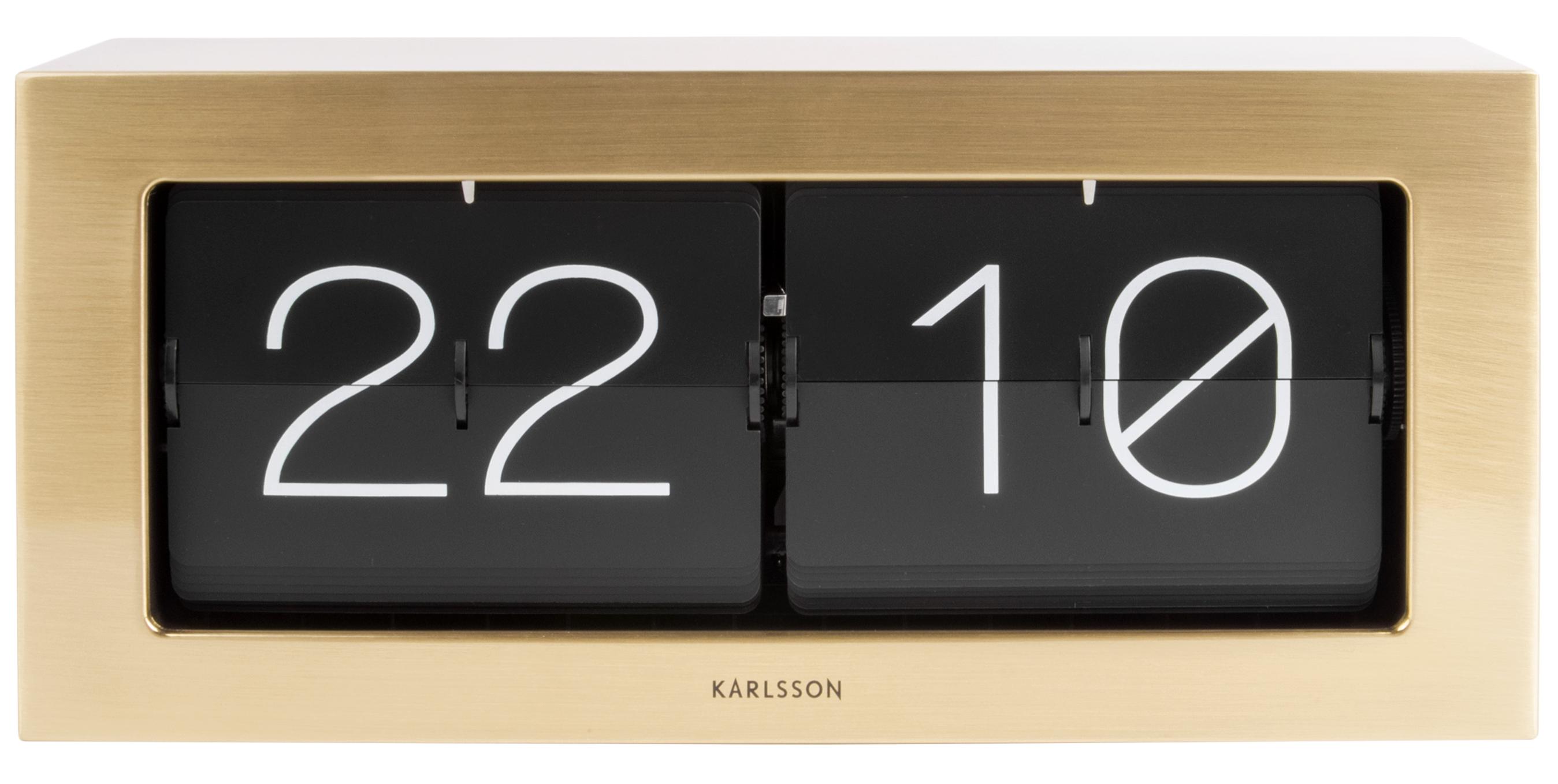 wanduhr tischuhr karlsson boxed big flip ka5642gd g nstig auf kaufen wanduhren. Black Bedroom Furniture Sets. Home Design Ideas