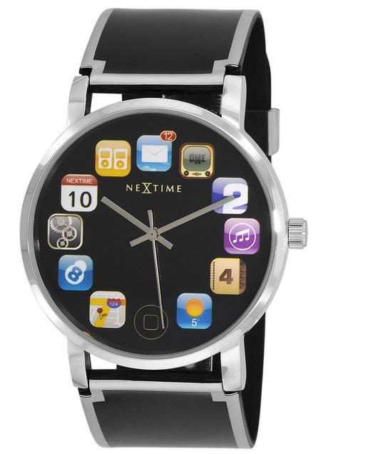 armbanduhr wrist pad schwarz nextime shop marken shops. Black Bedroom Furniture Sets. Home Design Ideas